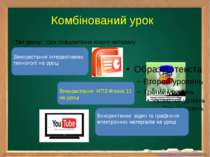 Тип уроку: Урок повідомлення нового матеріалу Комбінований урок Використання ...