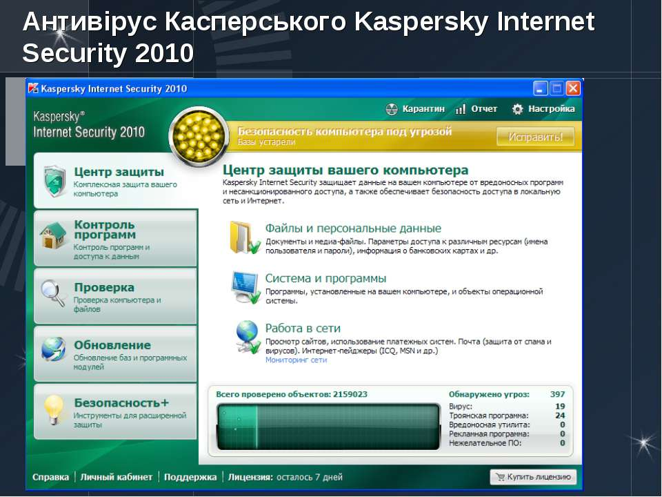 Антивірус Касперського Kaspersky Internet Security2010