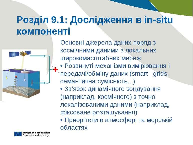Розділ 9.1: Дослідження в in-situ компоненті Основні джерела даних поряд з ко...