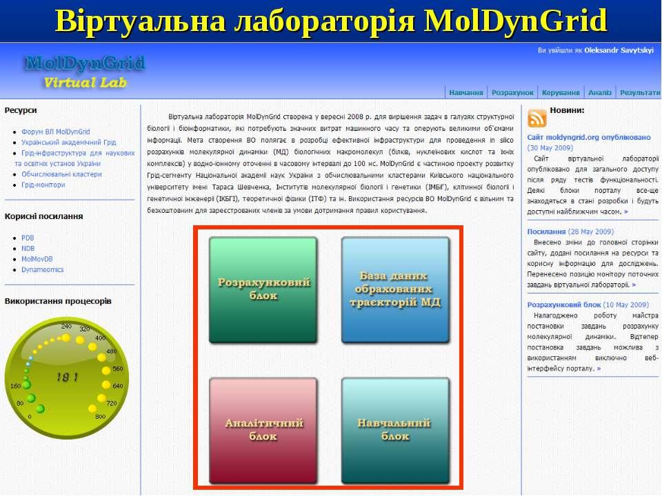 Віртуальна лабораторія MolDynGrid