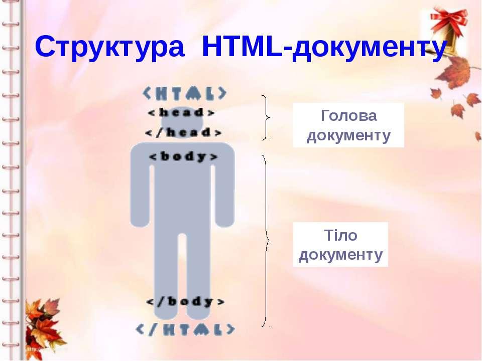 Структура HTML-документу