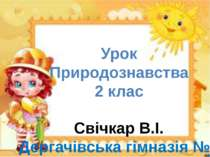 Урок Природознавства 2 клас Свічкар В.І. Дергачівська гімназія №3