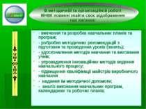 - вивчення та розробка навчальних планів та програм; - робробка методичних ре...