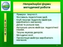 * Нетрадиційні форми методичної роботи Ярмарок творчості. Фестиваль педагогіч...