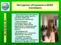 1... * Методичне об'єднання в МНВК покликано: * вдосконалювати методичну і пр...