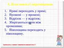 4. Властивості переміщення Записати у зошит і вивчити напам'ять!!!