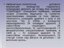 Амбулаторно-поліклінічна допомога мешканцям воєводства надавалась осередками ...