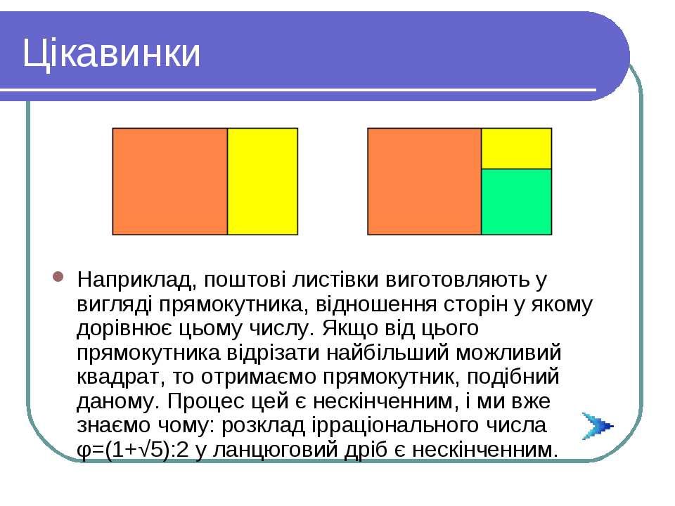 Цікавинки Наприклад, поштові листівки виготовляють у вигляді прямокутника, ві...