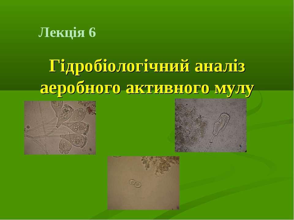 Лекція 6 Гідробіологічний аналіз аеробного активного мулу