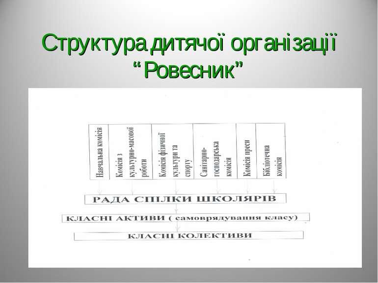 """Структура дитячої організації """"Ровесник"""""""