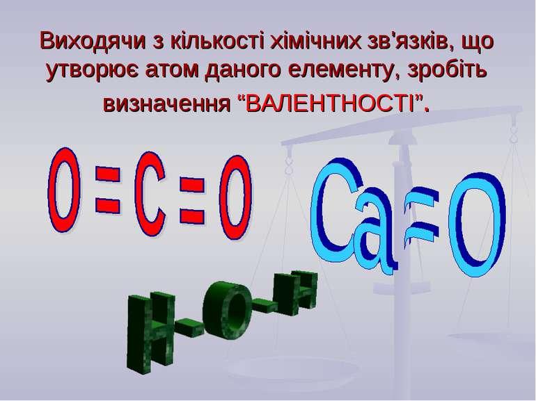 Виходячи з кількості хімічних зв'язків, що утворює атом даного елементу, зроб...