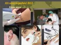 Шляхи передачі ВІЛ Кров-кров Откидач Вікторія © Київ 2006