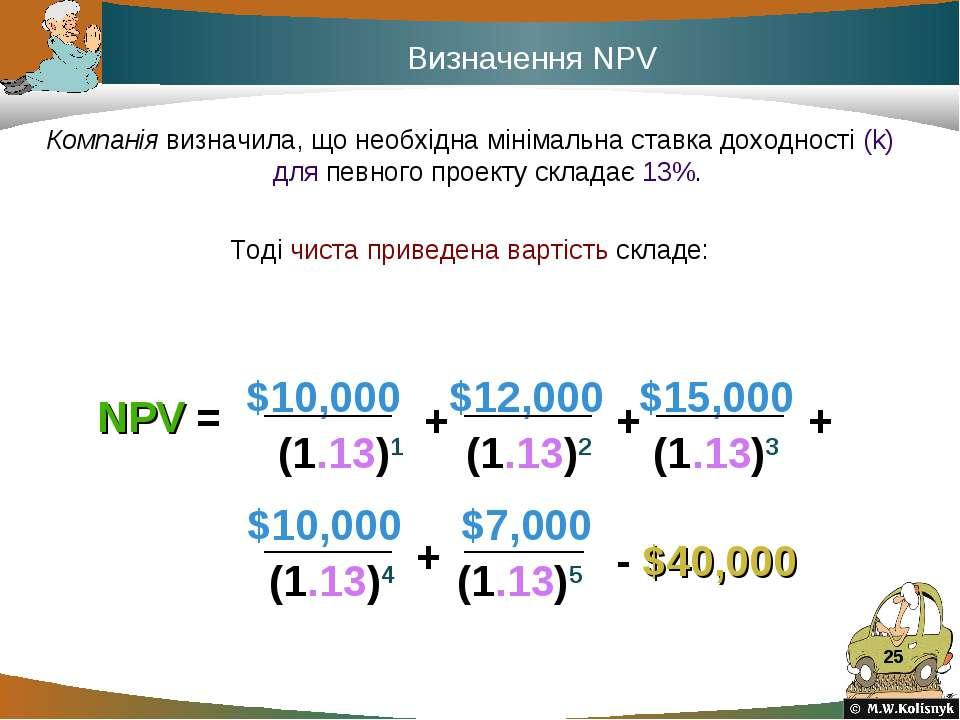 * Компанія визначила, що необхідна мінімальна ставка доходності (k) для певно...