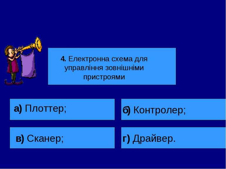 4. Електронна схема для управління зовнішніми пристроями а) Плоттер; в) Скане...