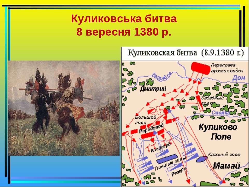 Куликовська битва 8 вересня 1380 р.
