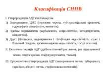 Класифікація СНПВ І. Гіперпродукціія АДГ гіпоталамусом 1) Захворювання ЦНС (п...