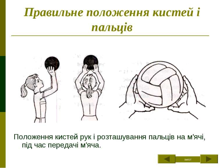 Правильне положення кистей і пальців Положення кистей рук і розташування паль...