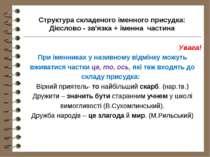 Структура складеного іменного присудка: Дієслово - зв'язка + іменна частина У...