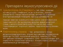 Препарати імуносупресивної дії Циклоспорин А (Сандімун) – таб. 200мг, особлив...