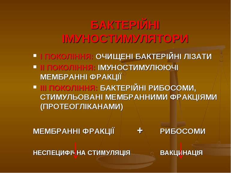 БАКТЕРІЙНІ ІМУНОСТИМУЛЯТОРИ І ПОКОЛІННЯ: ОЧИЩЕНІ БАКТЕРІЙНІ ЛІЗАТИ ІІ ПОКОЛІН...