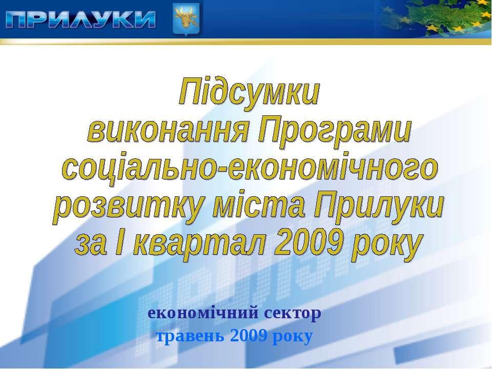 економічний сектор травень 2009 року