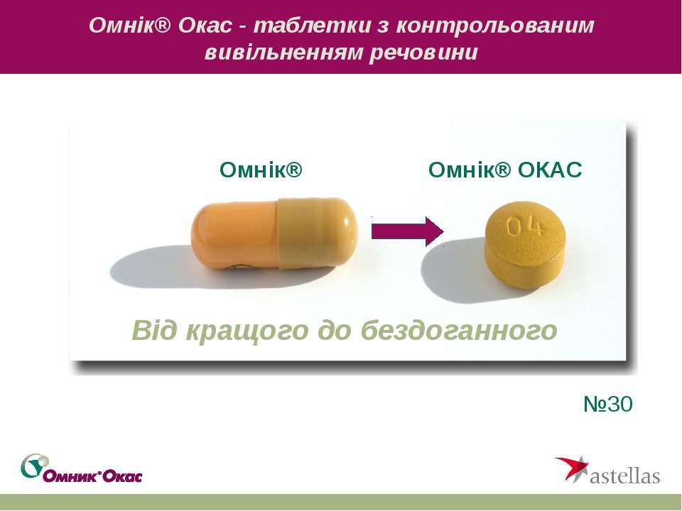 Омнік® Окас - таблетки з контрольованим вивільненням речовини №30 Омнік® Омні...