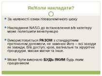 Як/Коли накладати? За наявності ознак гіповолемічного шоку Накладання NASG до...