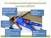 Не пневматичний протишоковий костюм (NASG) Неопреновий одяг на липучках для н...