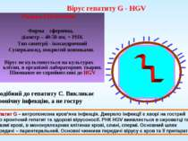 Вірус гепатиту G - HGV Родина Flaviviridae Форма сферична, діаметр – 40-50 нм...