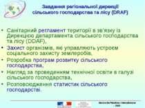 Завдання регіональної дирекції сільського господарства та лісу (DRAF) Санітар...