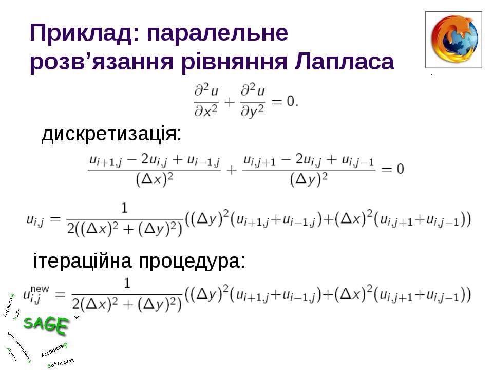 Приклад: паралельне розв'язання рівняння Лапласа дискретизація: ітераційна пр...