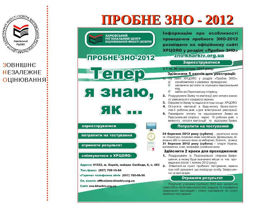 ПРОБНЕ ЗНО - 2012