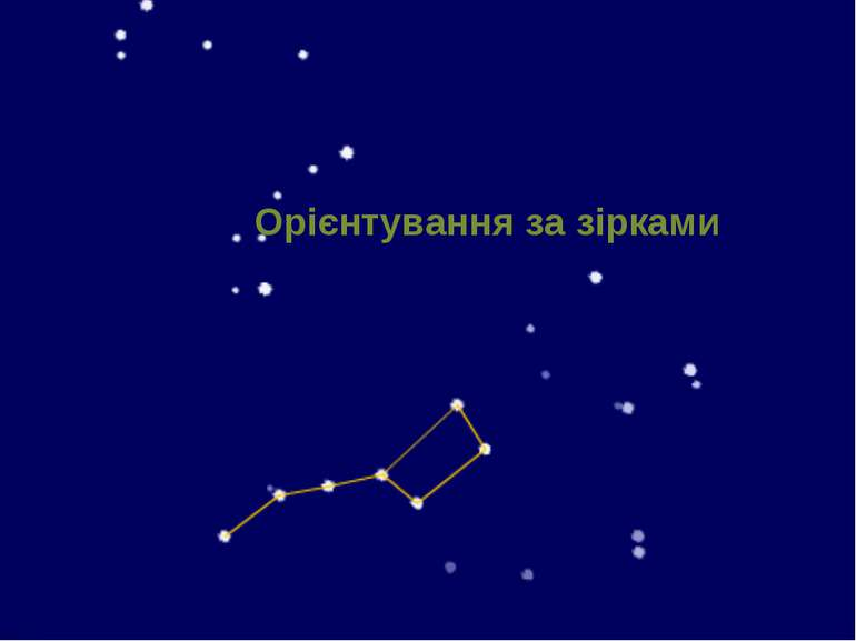 Орієнтування за зірками