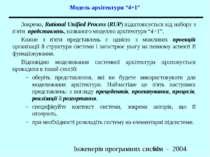 """Модель архітектури """"4+1"""" Зокрема, Rational Unified Process (RUP) відштовхуєть..."""