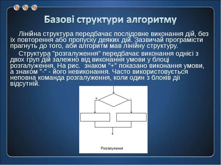 Лінійна структура передбачає послідовне виконання дій, без їх повторення або ...