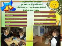 Традиційні форми організації учбової діяльності при навчанні інформатики лекц...