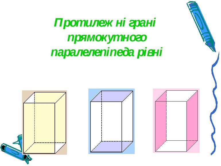 Протилежні грані прямокутного паралелепіпеда рівні
