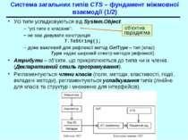 Система загальних типів CTS – фундамент міжмовної взаємодії (1/2) Усі типи ус...
