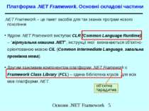 Платформа .NET Framework. Основні складові частини .NET Framework – це пакет ...