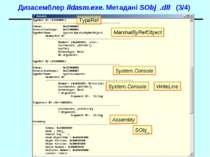 Дизасемблер ildasm.exe. Метадані SObj_.dll (3/4) TypeRef MarshalByRefObject S...