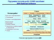 Підтримка потоків робіт CASE-засобами IBM Rational Software Основи програмної...