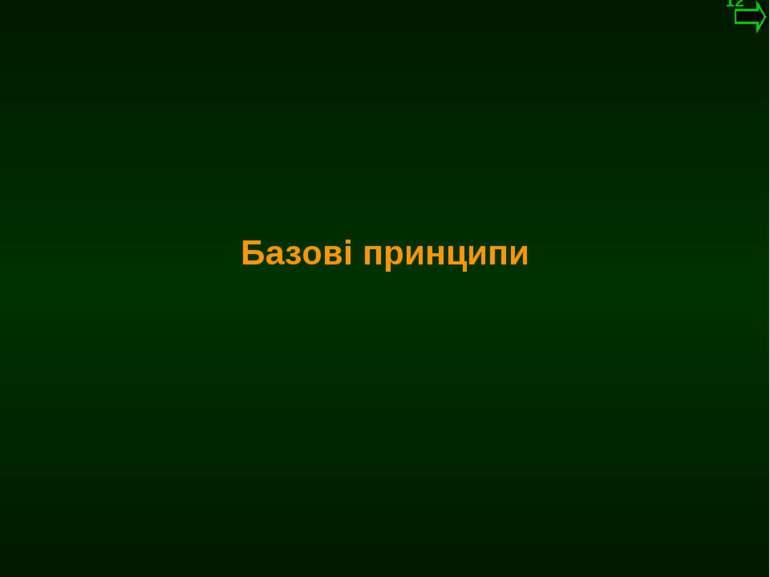 М.Кононов © 2009 E-mail: mvk@univ.kiev.ua Базові принципи *