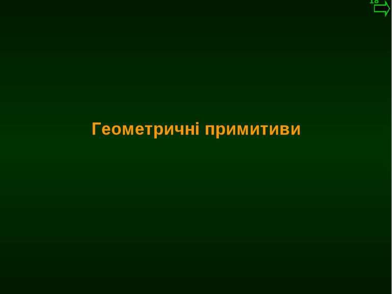 М.Кононов © 2009 E-mail: mvk@univ.kiev.ua Геометричні примитиви *