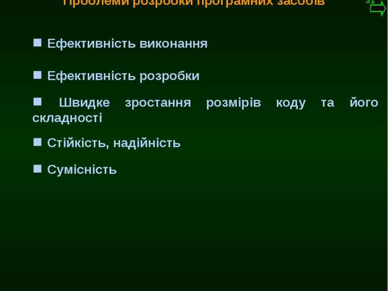 М.Кононов © 2009 E-mail: mvk@univ.kiev.ua Ефективність виконання Проблеми роз...