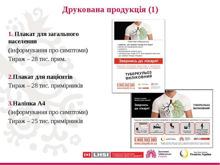 Друкована продукція (1) Плакат для загального населення (інформування про сим...