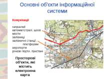 Основні об'єкти інформаційної системи Комунікації наприклад автомагістралі, ш...