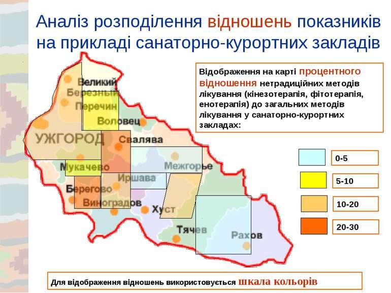 Аналіз розподілення відношень показників на прикладі санаторно-курортних закл...