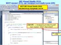 "Ctrl+F5 — генерується клієнтський тест-проект ""WCF Test Client"" MS Visual Stu..."