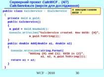Серверний проект CalcWCF . (4/7) CalcService.cs (версія для дослідження) publ...