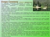 Озеро Синевир Область: Закарпатська На території Закарпаття розташоване 32 оз...